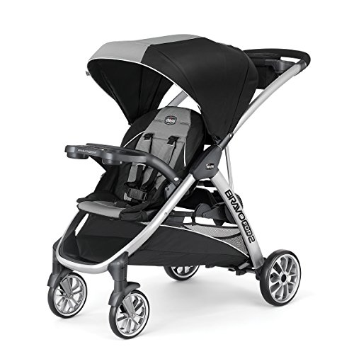 Learn More About Chicco BravoFor2 Standing/Sitting Double Stroller, Zinc