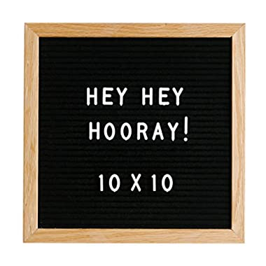 Hey Hey Hooray 10x10 Felt Letter Board with 290 Characters Included