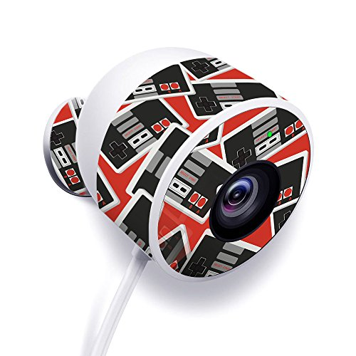 MightySkins Skin for Nest Cam Outdoor Security Camera - Retro Controllers 3 | Protective, Durable, and Unique Vinyl Decal wrap Cover | Easy to Apply, Remove, and Change Styles | Made in The USA