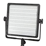 StudioPRO Single 600 Bi Color LED Light Bulbs Photography Lighting Panel and Light Stand Kit, S-600B Continuous 3200K-5600K Daylight, Photo Studio Video Film Lighting Kit (Barndoors are sold separately)