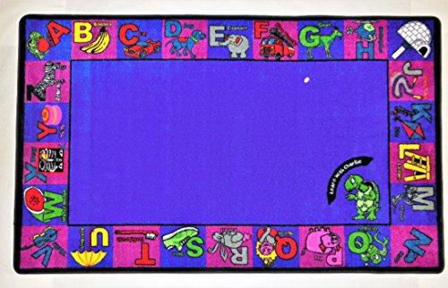Kids World Carpets Kids World Alphabet Charlie Multicolor Nylon Machine-Tufted Area Rug (5' x 8') - Exact Size ()