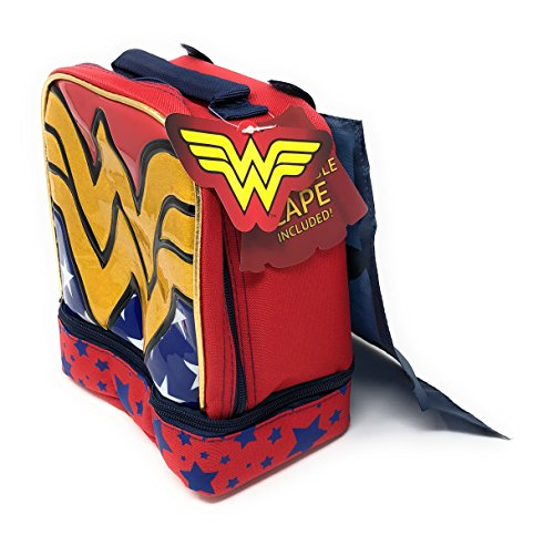 Wonder Woman Insulated Dual Compartment Lunch Kit, with Cape -