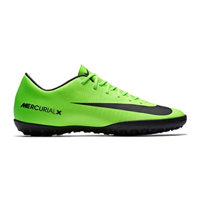 NIKE Mens MercurialX Victory VI Turf Shoes [Electric Green] (7.5)