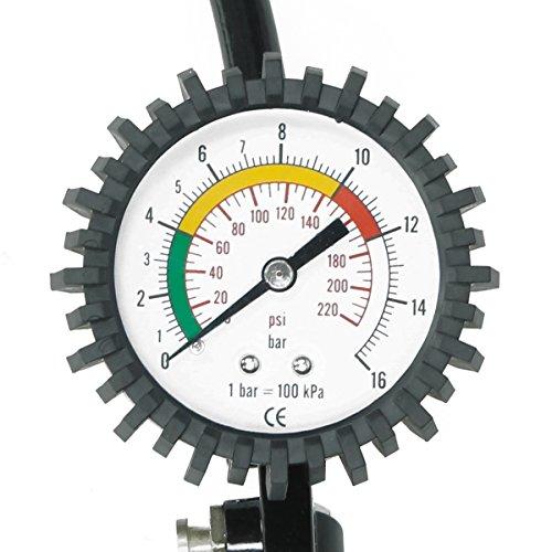 ECD Germany Pistola para inflar neumáticos con Manómetro para medir la presión: Amazon.es: Coche y moto