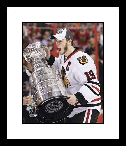 Jonathan Toews Chicago Blackhawks NHL Framed 8x10 Photograph with 2010 Stanley Cup Trophy