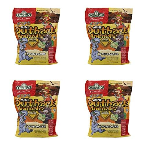 - (4 PACK) - Orgran Mini Outback Animals - Multi Pack Vanilla| 175 g |4 PACK - SUPER SAVER - SAVE MONEY