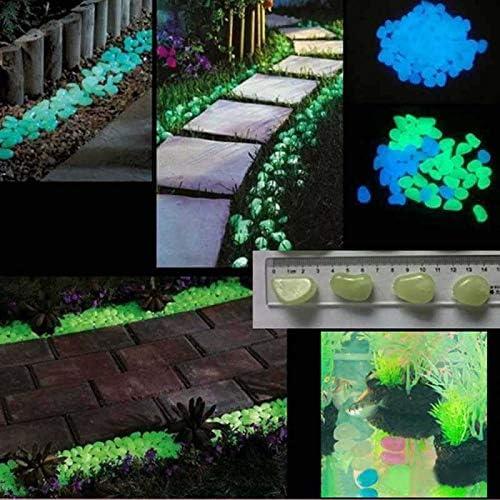 25 Piedras Photoluminiscentes (Azul Verdoso): Amazon.es: Jardín