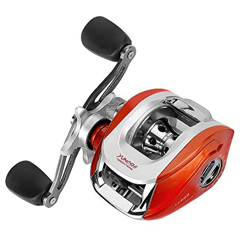 Carryberry Baitcasting Reel,Fishing Reels, Spinning Fishing Reel with Magnetic Braking System,12 1 Corrosion Resistant Bearings,Low Profile Baitcasting Fishing Reel for Saltwater or Freshwater