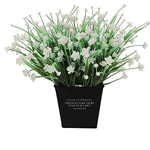 narutosak Artificial Plants 1 Bouquet Camellia Fake Plant Home Hotel Wedding Party Decoration - White 62