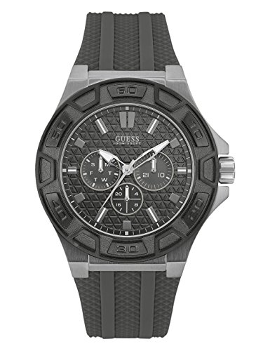 GUESS-Mens-Quartz-Stainless-Steel-and-Silicone-Casual-Watch-ColorGrey-Model-U0674G8