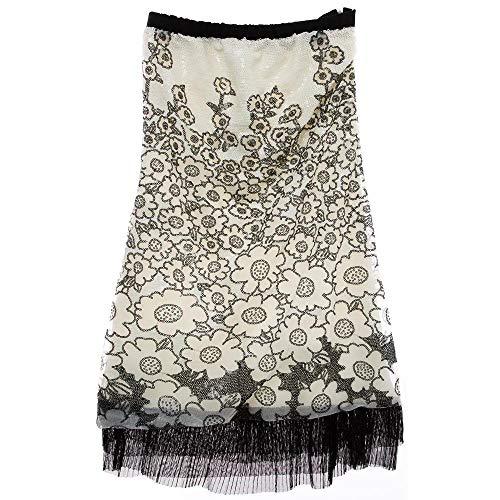 Vestido Lantejoula Flores