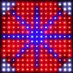 225 Blue Red Orange White Indoor Hydroponic Garden LED Grow Light Panel Veg Clone Bloom Aquarium Lamp