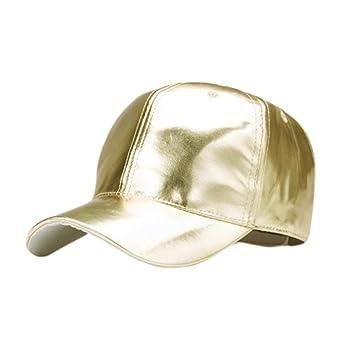 252fe44ab8aabb Baseball Caps, BBring Unisex Herren Damen Mode Einstellbare Pu-Leder Basecap  Blank Hip Hop