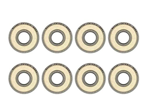 8 Pcs Bones CERAMIC Super Reds Precision bearing Roller set skateboard inline skate 8mm (Skate Roller Bearings Ceramic)