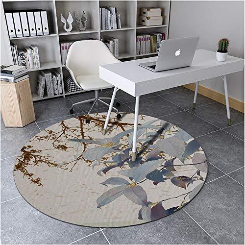 Tabriz Light Green - Best Seller Modern Chinese Style Living Room Carpet Home Study Round Landscape Printing Floor mat E1 120CM