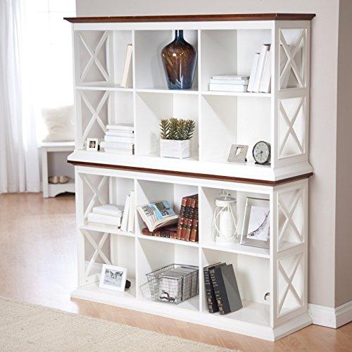Belham living hampton console table 2 shelf bookcase for Small bedroom bookcase