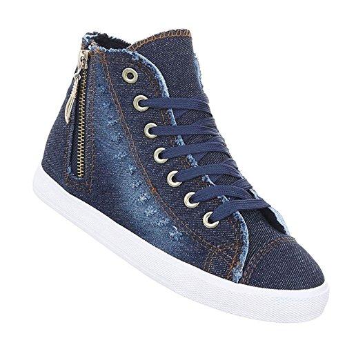 Damen Schuhe Freizeitschuhe Sneakers Blau