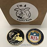 American Football Team Challenge Coin Atlanta Falcons Poker Card Marker Collectible plus display case, stand, and Free Sticker by Lucky Donk
