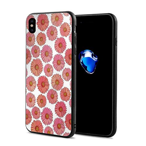 - Phone Case Cover Compatible with iPhone X XS,Pink Blooms Flower Field Essence Fragrance Mother Nature Tropical Flourish,Compatible with iPhone X/XS 5.8