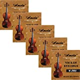 5 Sets Replacement Stainless Steel 3/4 4/4 Size Fiddle String Violin Strings E A D G