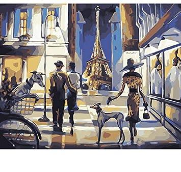 Peinture Par Numéros Numérique Paysage Coloration Peinture
