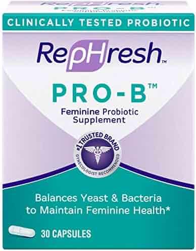 RepHresh Pro-B Probiotic Supplement for Women, 30 Oral Capsules