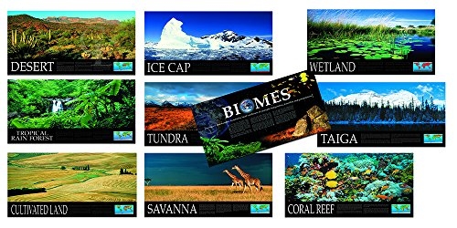 """Jaguar Educational World Biomes Series of 10 Laminated Posters Measuring 18"""" x 36"""" Perfect for Biology and Science Classrooms"""