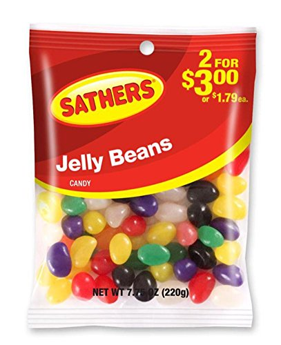 (Sathers Jelly Beans, 7.75 Ounce Bag, Pack of 12)