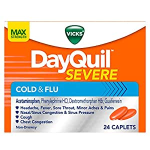 Vicks DayQuil SEVERE Cough Cold and Flu Relief, 24 Caplets