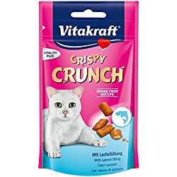 Vitakraft Crispy Crunch Cat snacks With Salmon Cat Treat (60 g. x 2 Packs.)