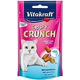 Vitakraft Crispy Crunch Cat snacks With Salmon Cat Treat (60 g. x 2 Packs.)