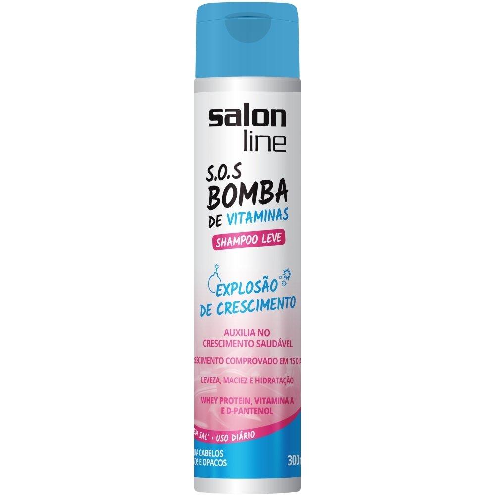 Amazon.com : Linha Tratamento (SOS Bomba de Vitaminas) Salon Line - Shampoo Leve Explosao De Crescimento 300 Ml - (Salon Line Treatment (Vitamin Bomb SOS) ...