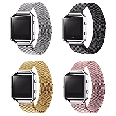 Fitbit Blaze Replacement Band Strap Wristband Large (6.7-8.1 in),No1seller Milanese Loop Stainless Steel Bracelet Strap Wristband for Fitbit Blaze Smart Fitness Watch with Unique Magnet Lock