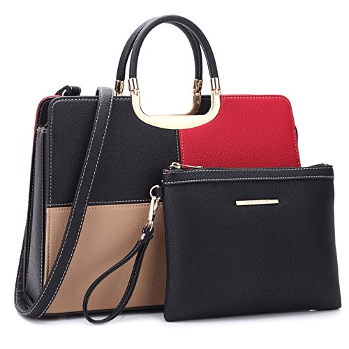 Designer Women Laptop Briefcase, Large Handbag for Lady PU Leather Satchel Lightweight Tote Purse