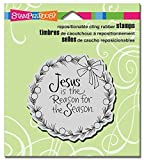 Stampendous Rubber Cling Stamp 3.5-inch x 4-inch, Jesus Wreath by Stampendous