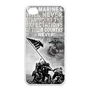 FashionFollower Custom US Marine Corps Top Phone Case Suitable For iPhone4/4s IP4WN101705 wangjiang maoyi BY shenglong