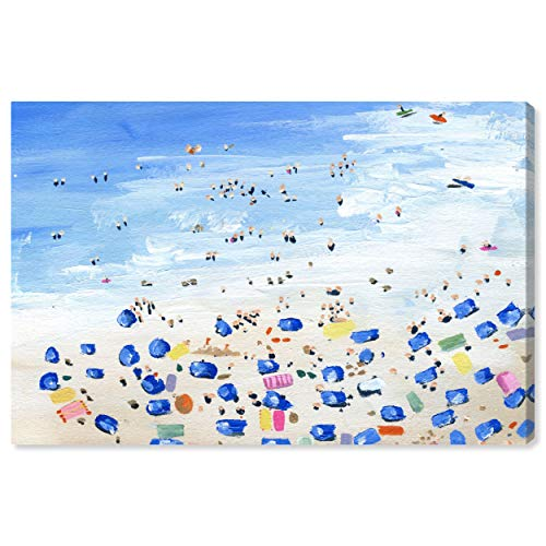 The Oliver Gal Artist Co. Nautical and Coastal Wall Art Canvas Prints 'Beach View' Home Décor, 60