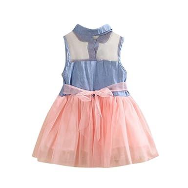 0d0486743357f 子供 デニム シャツ 女の子 デニムドレス ワンピース 無地 膝上丈YOKINO 赤ちゃん お宮参り ティアード