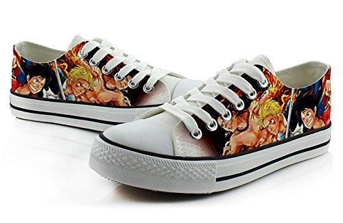 Eendelig Portgas D Ace Cosplay Schoenen Canvas Schoenen Sneakers Kleurrijk Laag Uitgesneden 2 Foto 3