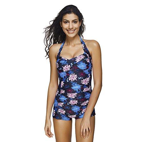 9b4ebe4a8f Sweetlover Fashion Womens One Piece Swimsuit Boyleg Monokini Tummy ...