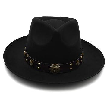 Gorras Sombreros Moda Mujer Hombre Lana Sombreros Fedora para Caballero Elegante Dama Floppy Cloche Ancho ala