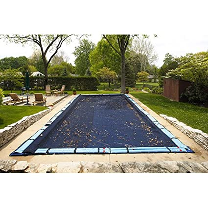 1dac974ccd595 Amazon.com: Rectanguler Leaf Net Pool Cover Size: 24' x 40': Sports &  Outdoors