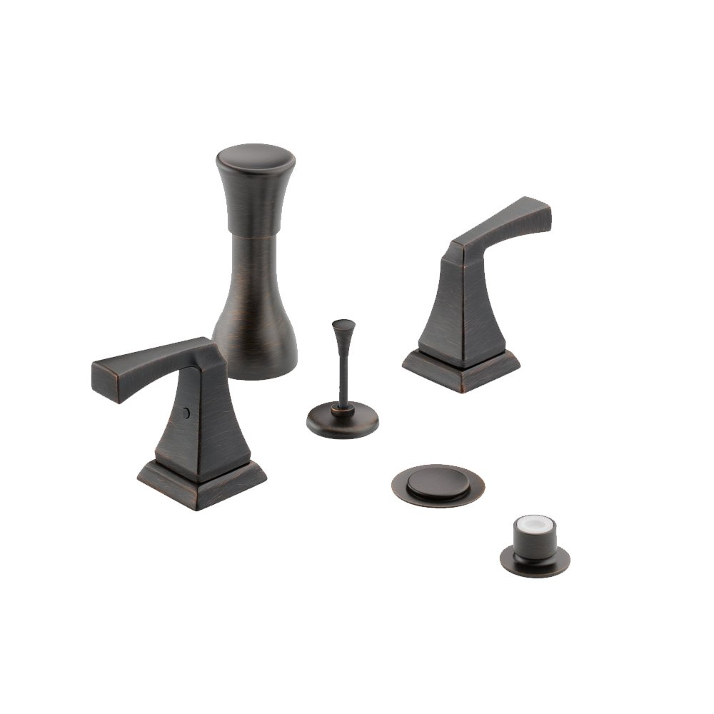 Delta Delta KBDDR-D-44H251-RB Classic Bidet Fitting Kit Deck-Mounted Vertical Spray with Vero Metal Lever Handles, Venetian Bronze Venetian Bronze by Delta