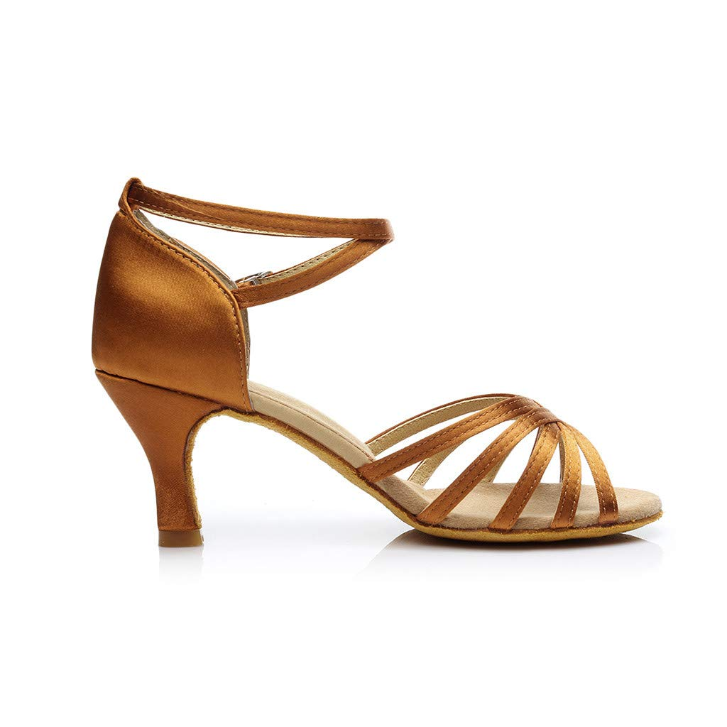 TOOPOOT Waltz Dance Sandals for Women Ladies Fashion Dancing Rumba Waltz Prom Ballroom Latin Salsa Dance Sandals Shoes
