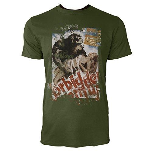 SINUS ART® King Kong Forbidden Herren T-Shirts Armee grünes Cooles Fun Shirt mit tollen Aufdruck