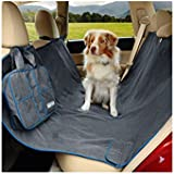 Kurgo Waterproof Wander Hammock and Car Seat Cover for Dogs, Heather Charcoal Grey - Lifetime Warranty