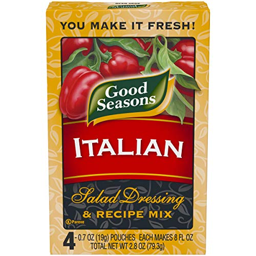 Good Seasons Italian All Natural Salad Dressing & Recipe Mix, 4 - 0.7 oz Boxes