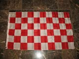 3X5 Advertising Checkered Checker Red White Flag