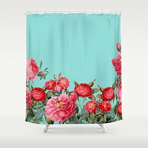 "Amazon.com: ""Fab Floral"" Bold Floral Shower Curtain: Handmade"