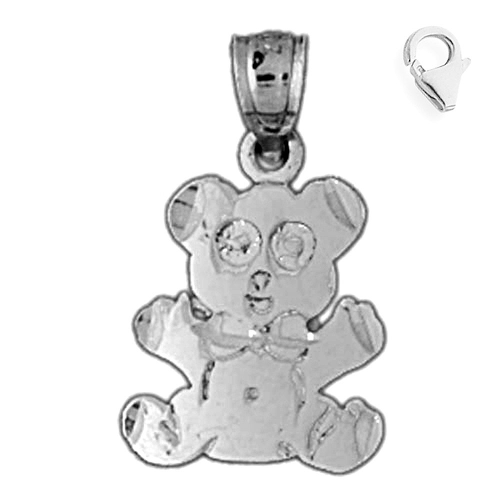 Sterling Silver 21mm Teddy Bear with 7.5 Charm Bracelet Jewels Obsession Teddy Bear Pendant
